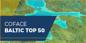 Coface Baltic Top 50 - 2018 - map of region