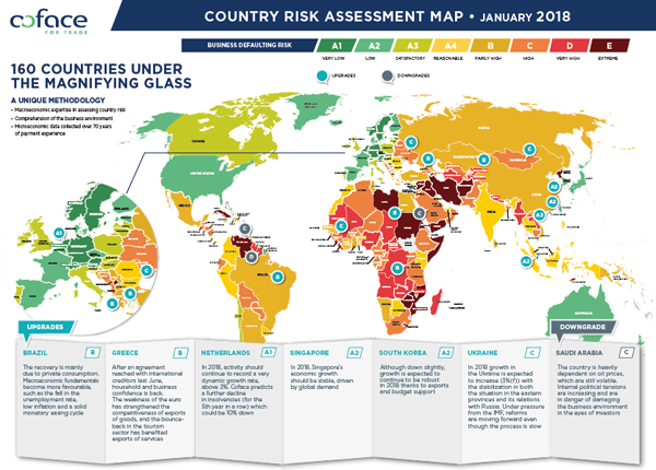 Country Risk Assesment Map